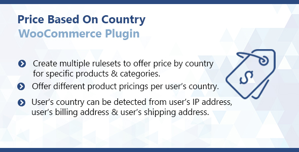 Price Based On Country By Codiffy