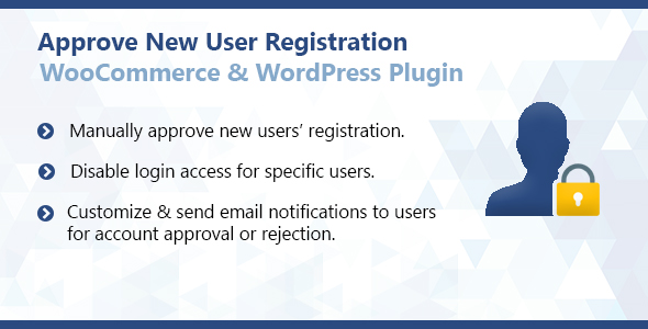 Approve New User Registration For WooCommerce